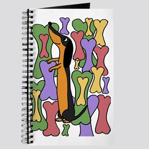 Funny Dachshund Dog Abstract Art Journal