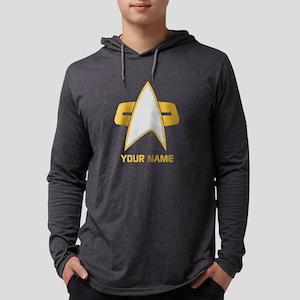 Star Trek: Voyager Emblem Mens Hooded Shirt