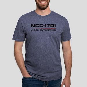 USS Enterprise Refit Dark Mens Tri-blend T-Shirt