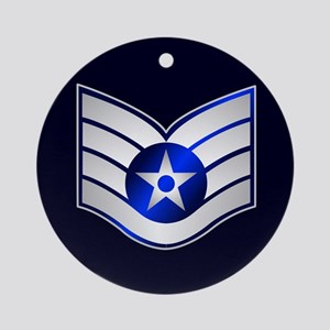 Air Force Staff Sergeant Ornament (Round)