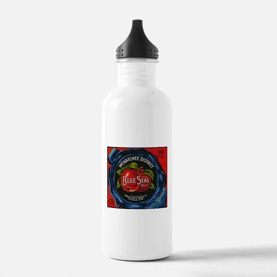Vintage Fruit Vegetable Crate Label Water Bottle