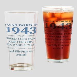 Birthday Facts-1943 Drinking Glass