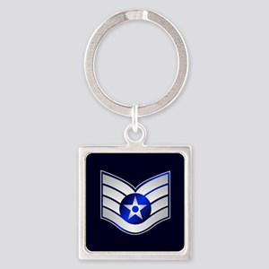 Air Force Staff Sergeant Square Keychain