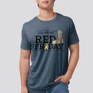 Army RED Friday Boot Mens Tri-blend T-Shirt