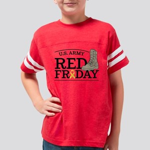 Army RED Friday Boot Youth Football Shirt