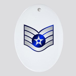 Air Force Staff Sergeant Ornament (Oval)