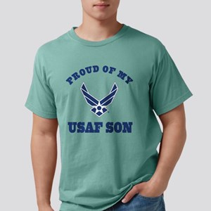 Air Force Son Proud Mom  Mens Comfort Colors Shirt