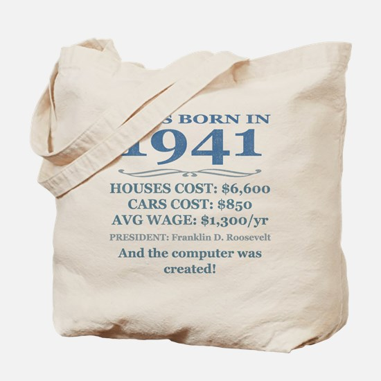 Birthday Facts-1941 Tote Bag