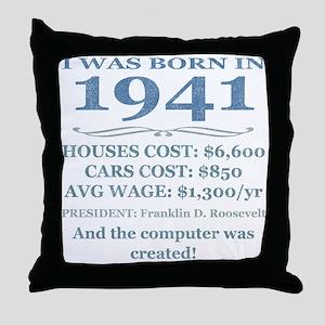 Birthday Facts-1941 Throw Pillow