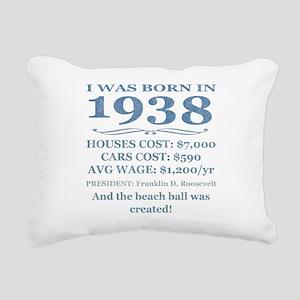 Birthday Facts-1938 Rectangular Canvas Pillow