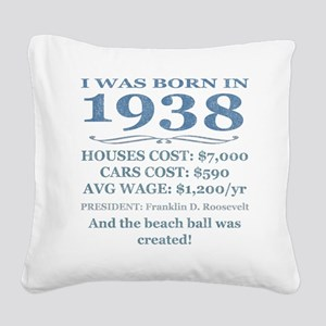 Birthday Facts-1938 Square Canvas Pillow