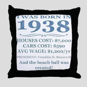 Birthday Facts-1938 Throw Pillow