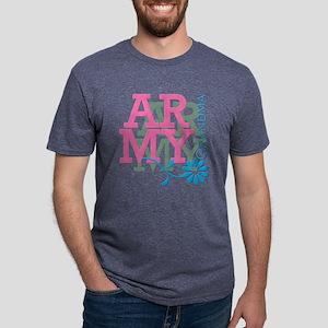 ArmyGrandmaPink Mens Tri-blend T-Shirt