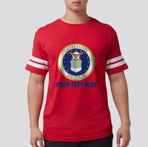 U.S. Air Force Emblem Personal Mens Football Shirt