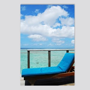 Water villa balcony in Ma Postcards (Package of 8)