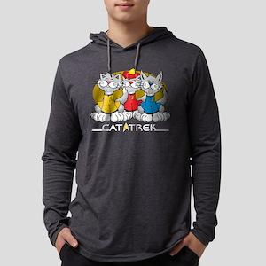 Cat-Trek-blk Mens Hooded Shirt
