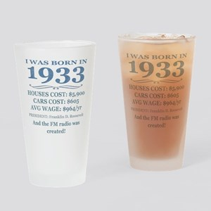 Birthday Facts-1933 Drinking Glass