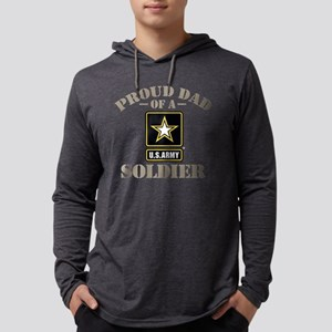 Proud U.S. Army Dad Mens Hooded Shirt