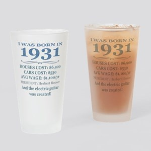Birthday Facts-1931 Drinking Glass