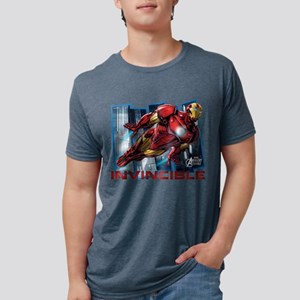 Iron Man Invincible  Mens Tri-blend T-Shirt