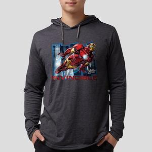 Iron Man Invincible  Mens Hooded Shirt