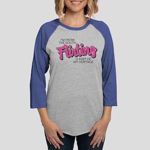Flirting is My Heritage Womens Baseball Tee
