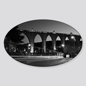 Aqueduct of the Free Waters in Lisb Sticker (Oval)