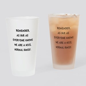 Normal Family Drinking Glass