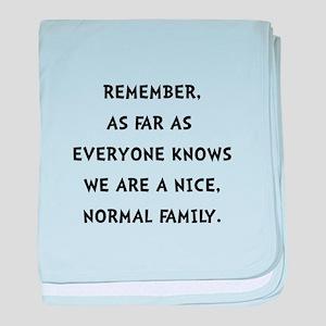 Normal Family baby blanket