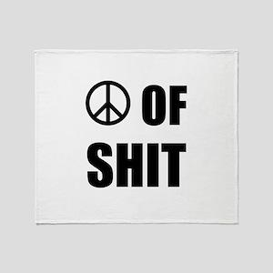 Peace Shit Throw Blanket
