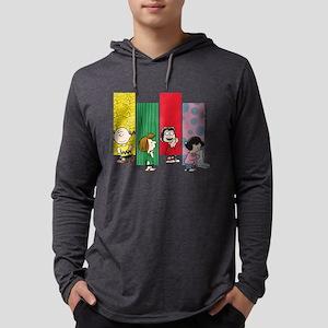 Peanuts Gang Lineup Mens Hooded Shirt