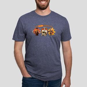 Ice Age Best Friends Dark Mens Tri-blend T-Shirt