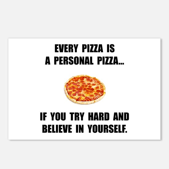 Personal Pizza Postcards (Package of 8)