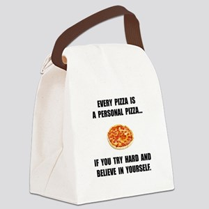 Personal Pizza Canvas Lunch Bag