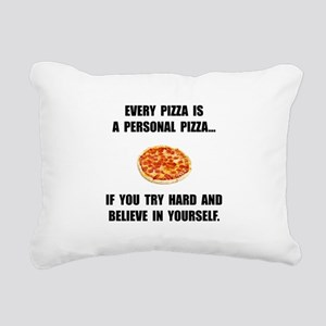 Personal Pizza Rectangular Canvas Pillow