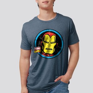 Iron Man Face Mens Tri-blend T-Shirt