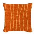Dew Dot Clay Woven Throw Pillow