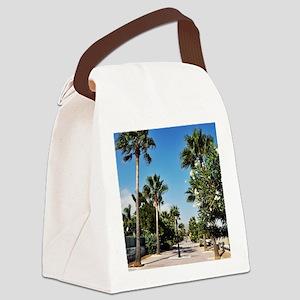 Beach sidewalk Canvas Lunch Bag