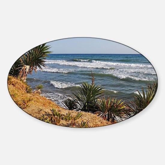 Marbella beach Sticker (Oval)