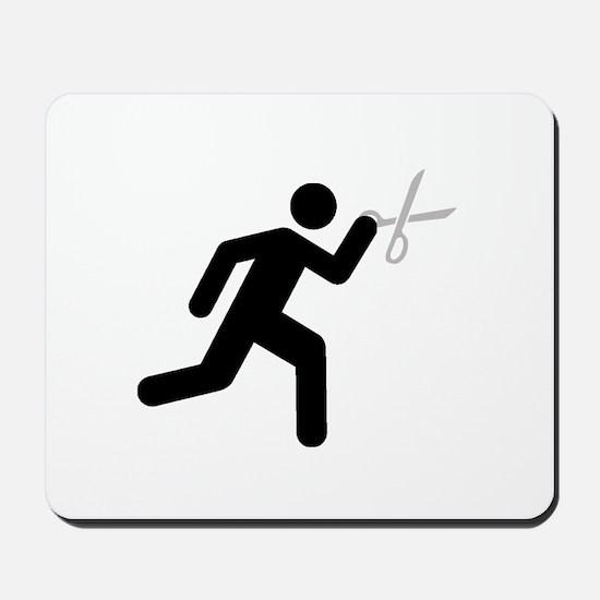 Run With Scissors Mousepad