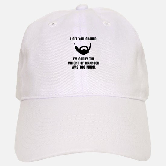 Shaved Manhood Baseball Baseball Baseball Cap