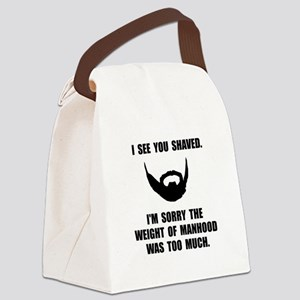 Shaved Manhood Canvas Lunch Bag