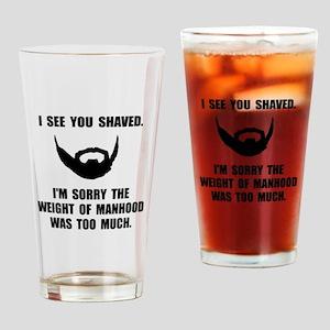 Shaved Manhood Drinking Glass