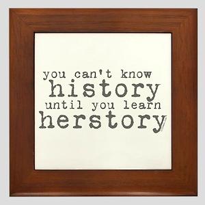 History vs. Herstory Framed Tile