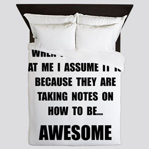 Stare Awesome Queen Duvet
