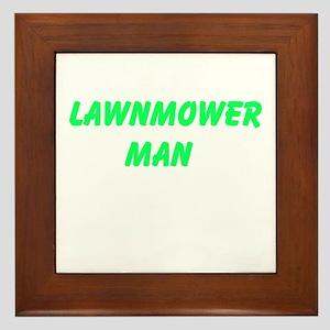 Lawnmower Man Framed Tile