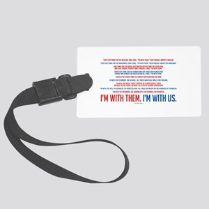 I'm With Us Large Luggage Tag
