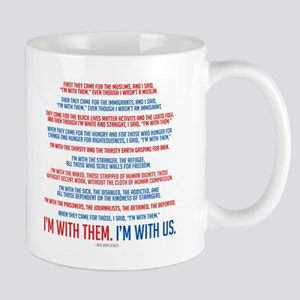 I'm With Us 11 oz Ceramic Mug