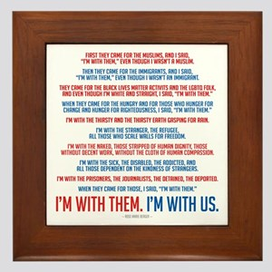 I'm With Us Framed Tile