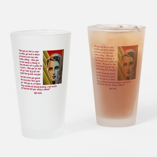 your society is doomed Drinking Glass